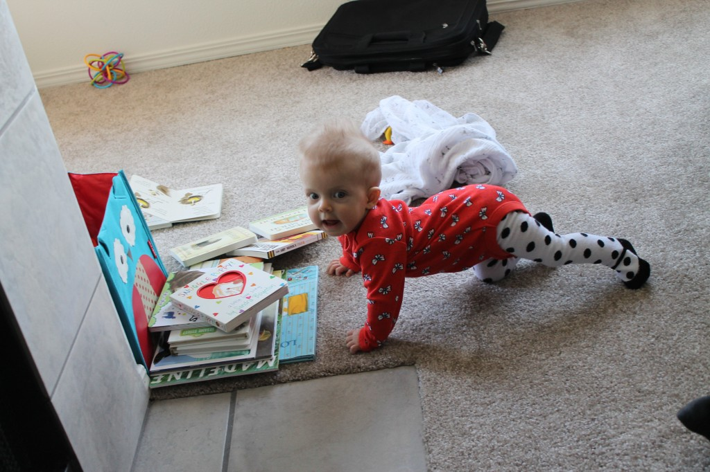 Throwback to baby Edith and her books.