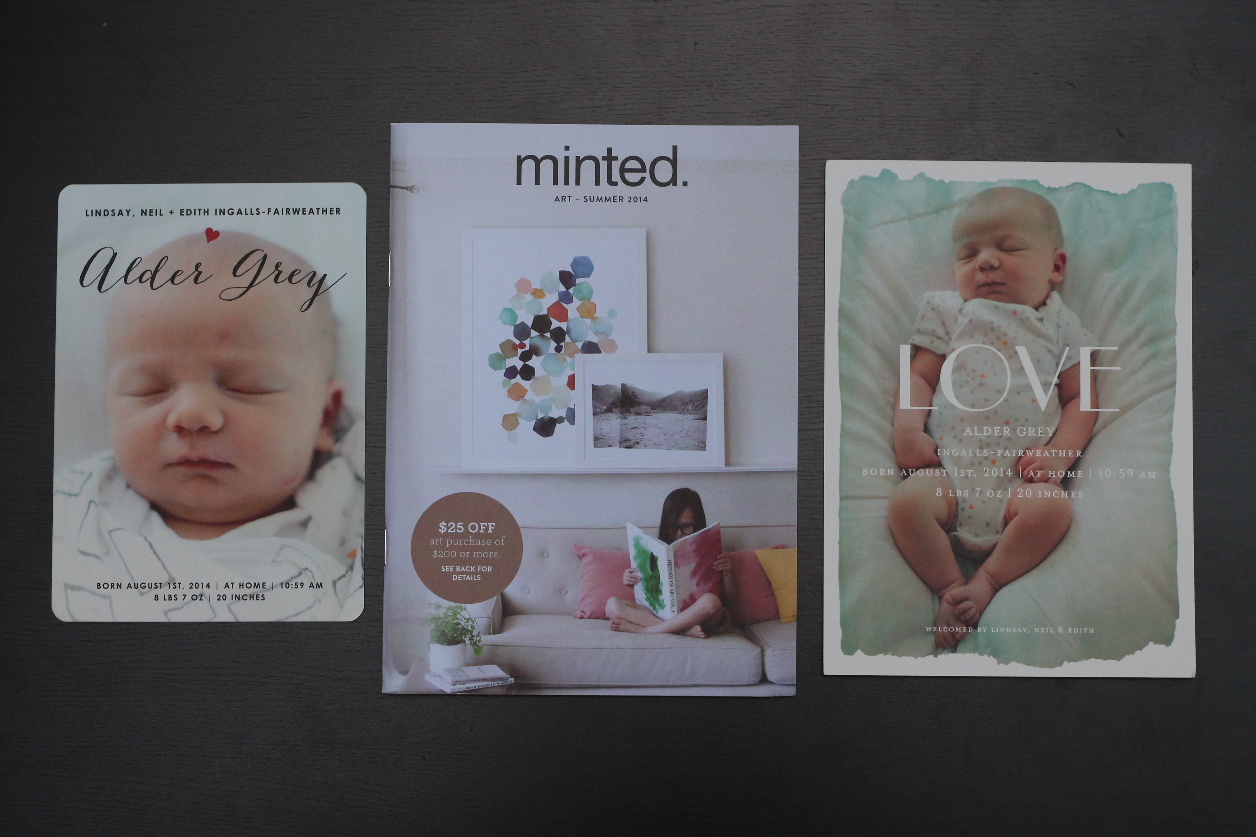 minted – When to Send Birth Announcements