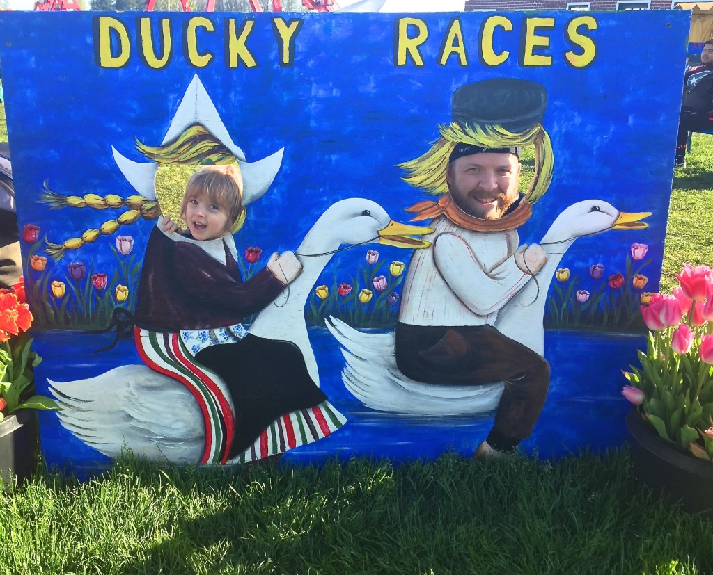 March 2015 - Tulip Fest - ducky race heads